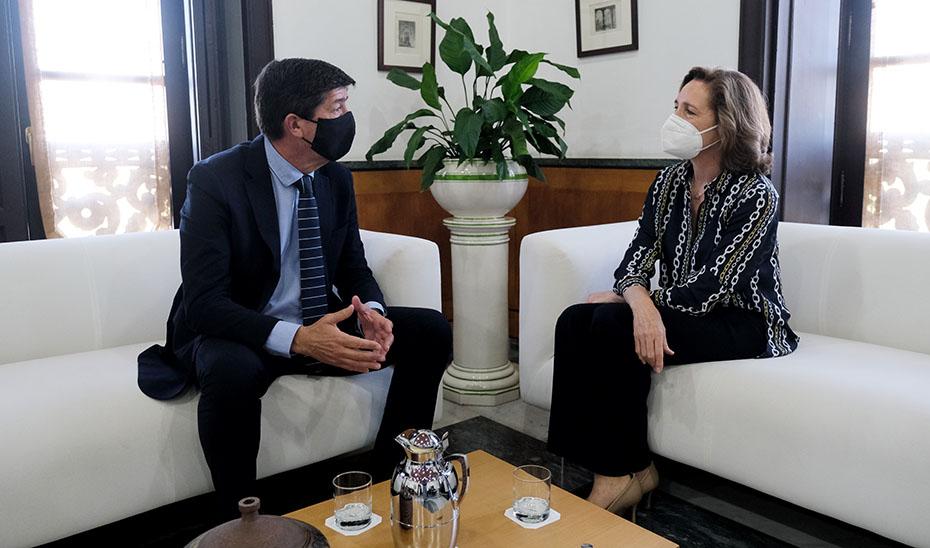 Marín se reúne con la presidenta de la Cámara de Cuentas