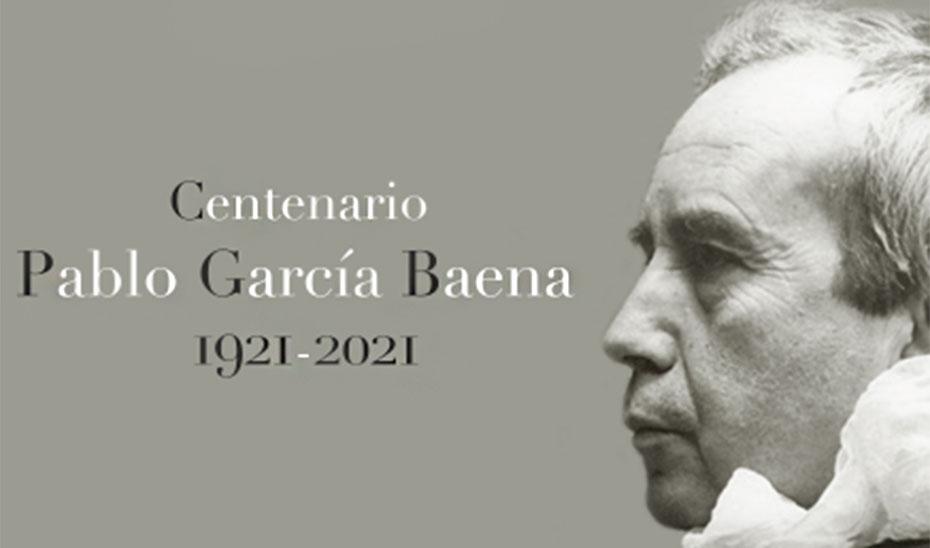 Cartel conmemorativo del centenario de Pablo García Baena.