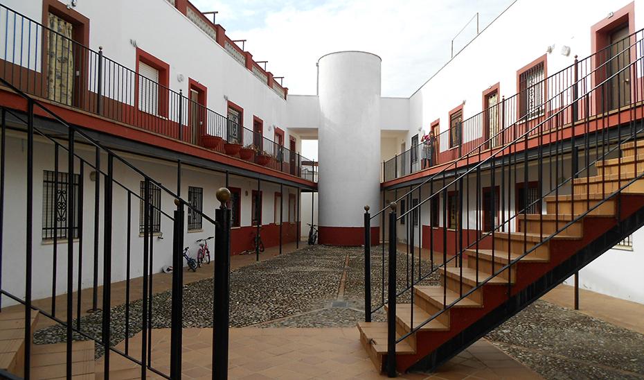 Viviendas del parque público de la Junta de Andalucía, en Montoro (Córdoba).