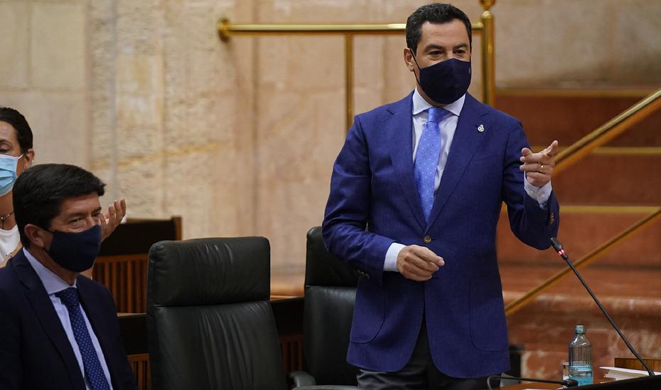 Moreno invita a los portavoces parlamentarios a una reunión para abordar los asuntos claves que le trasladará a Pedro Sánchez la próxima semana