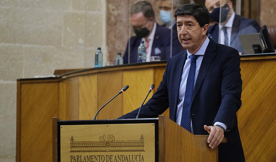"Juan Marín: ""Aprobar esta Ley contra el fraude es una forma de pedir perdón a miles de andaluces"""