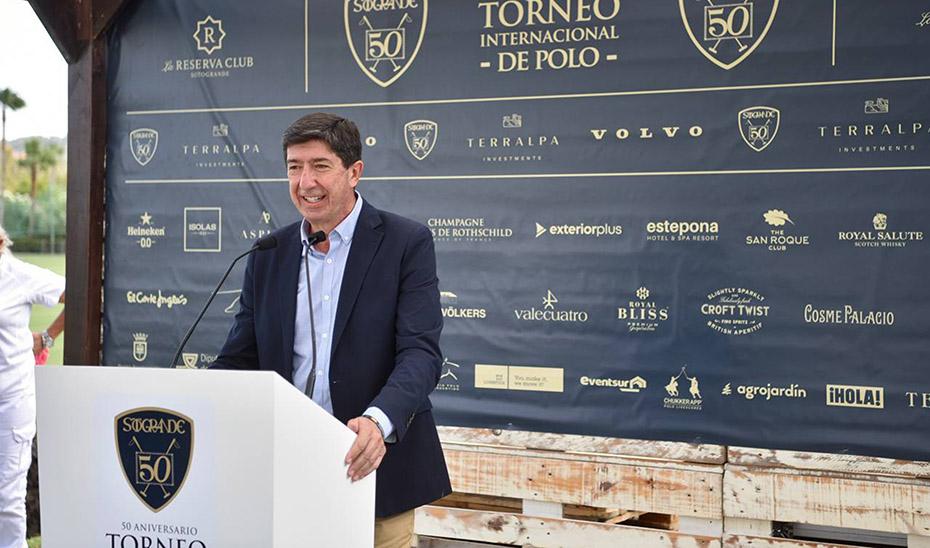 """Marín destaca el torneo de polo de Sotogrande como """"muestra de la capacidad de Andalucía para acoger grandes eventos deportivos"""""""