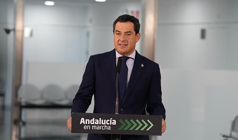 Intervención de Juanma Moreno en la inauguración del centro de salud de Isla Chica en Huelva