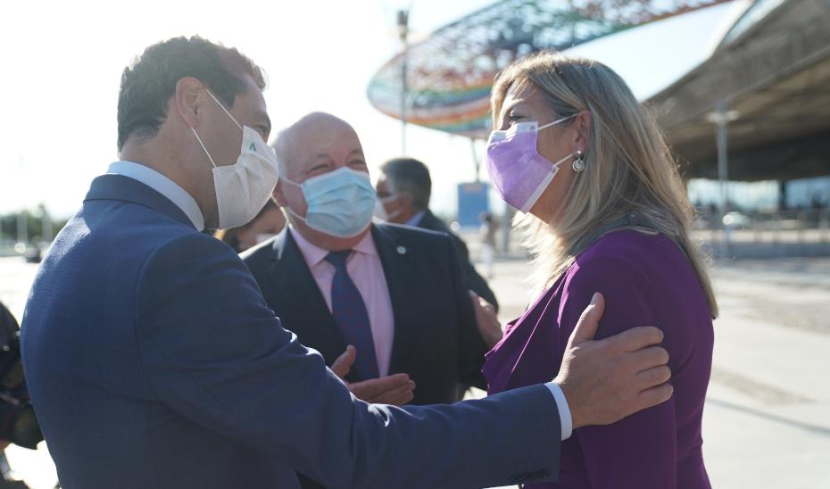 El presidente de la Junta, Juanma Moreno, este jueves en Málaga en el 22º Congreso Nacional de Hospitales y Gestión Sanitaria.