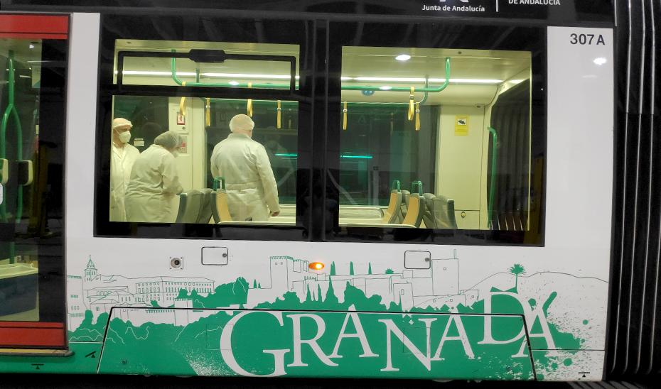 Ensayo de desinfección ultravioleta en Metro de Granada