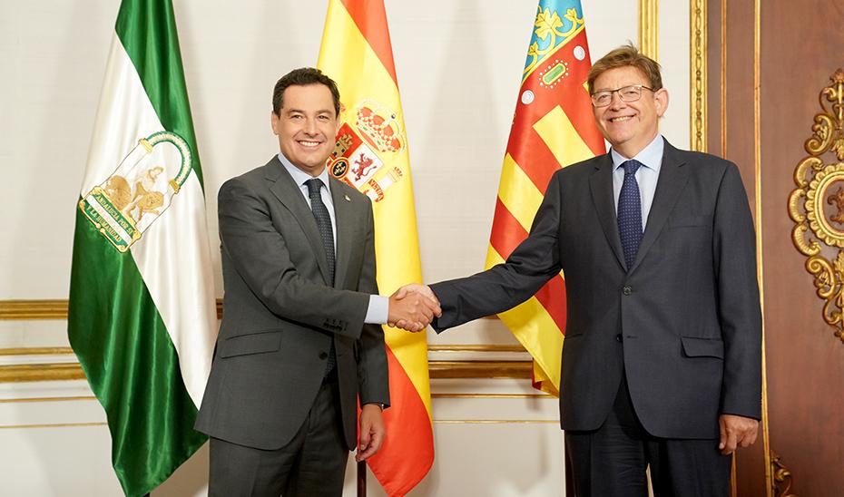 Andalucía y Comunitat Valenciana se unen por un sistema justo de financiación autonómica