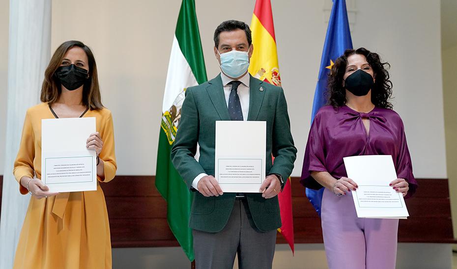 Intervenciones íntegras tras la firma del convenio en materia de Igualdad