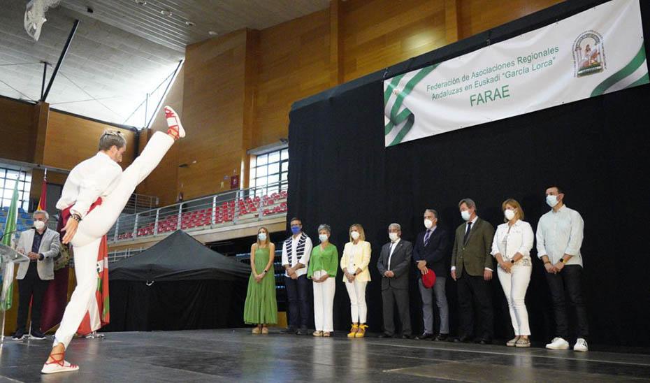 Elías Bendodo, en el XXXI Encuentro de Andaluces en Euskadi