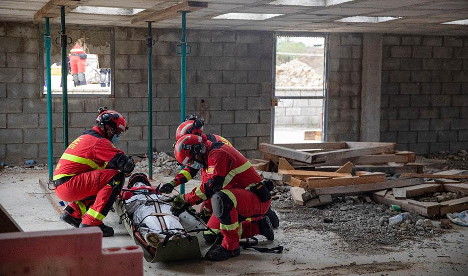 Un simulacro de emergencias pone el punto final al Curso de Riesgo Sísmico del IESPA