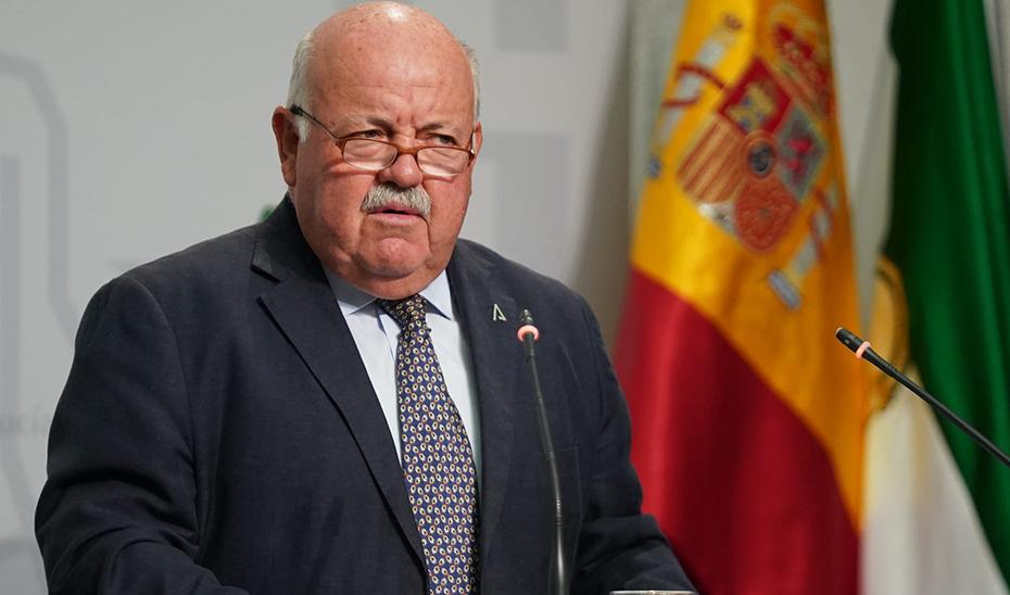 Aguirre informa de la situación de la pandemia de Covid-19 en Andalucía