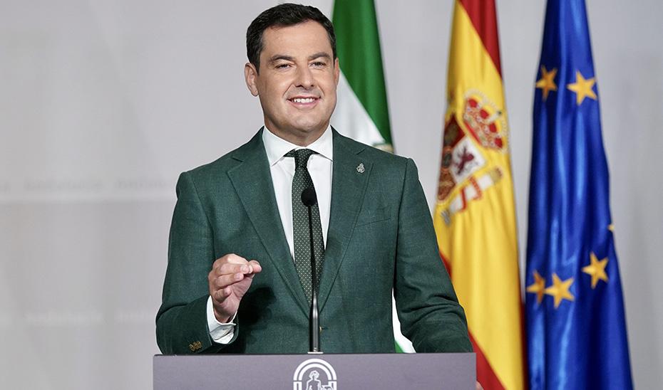 """Moreno anuncia la vuelta a la normalidad en las zonas de Andalucía que están en """"riesgo bajo"""""""