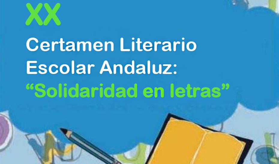 Cartel anunciador del certamen literario \u0027Solidaridad en Letras\u0027.