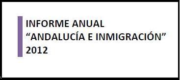 banner de Informe Anual Andalucía e Inmigración 2012