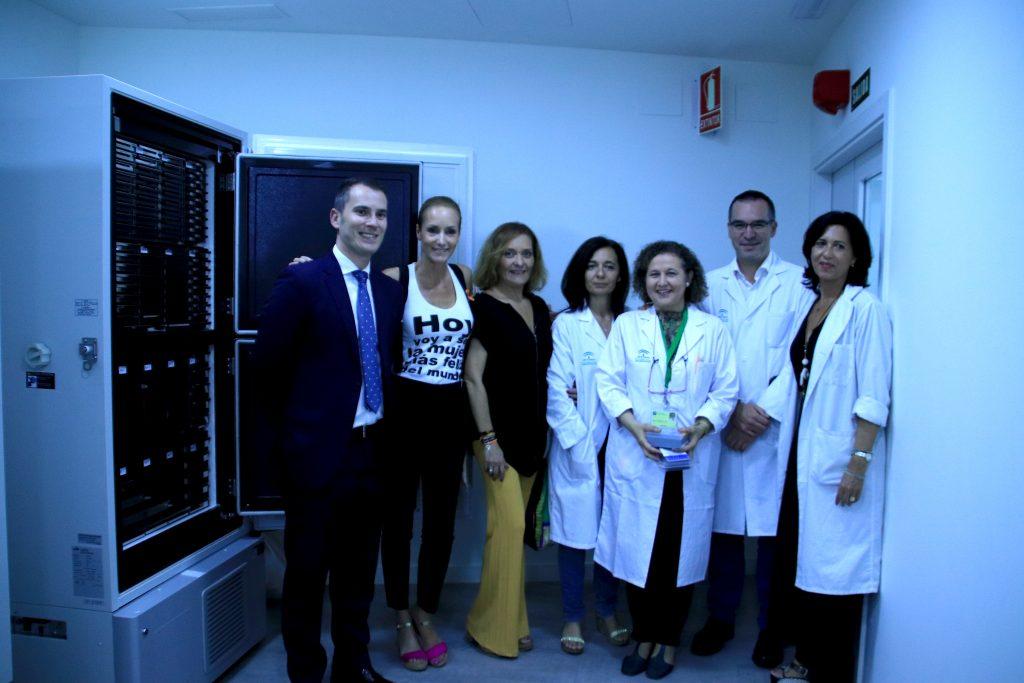 Imagenes de los miembros del Biobanco y de la Fundación Sandra Ibarra