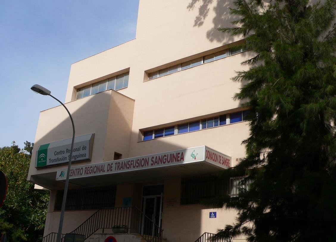 Entrada del Centro de Transfusión, Tejidos y Células