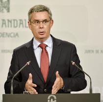 Juan Carlos Blanco, portavoz del Gobierno, durante su comparecencia ante los medios.