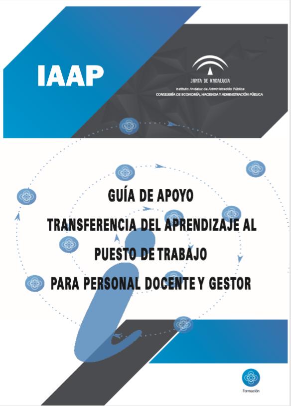 """Portada de la publicación """"Guía sobre Transferencia del Aprendizaje al Puesto de Trabajo"""""""