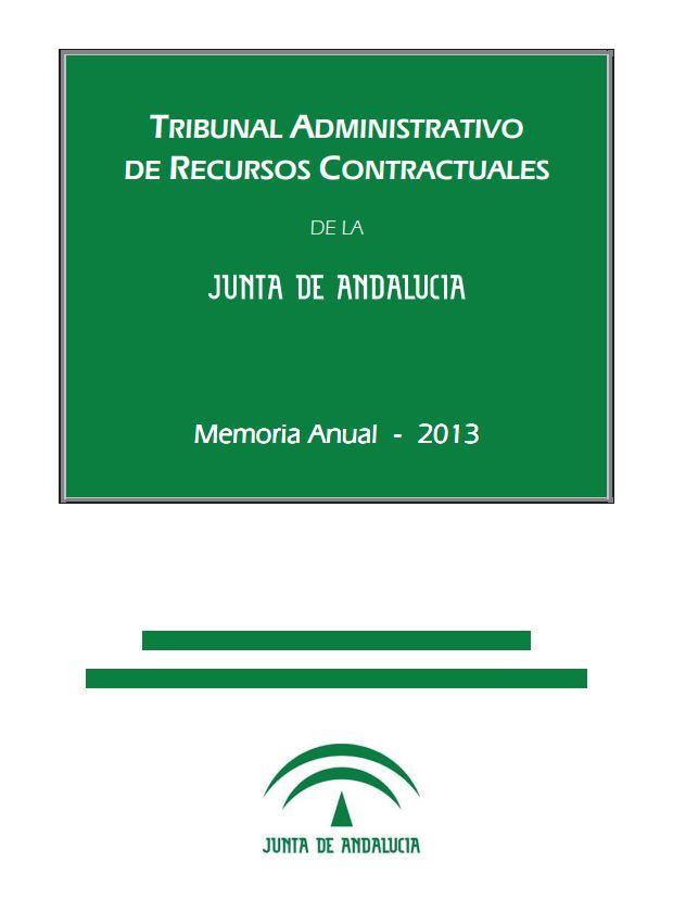Cubierta de la Memoria Anual 2013 del TARCJA