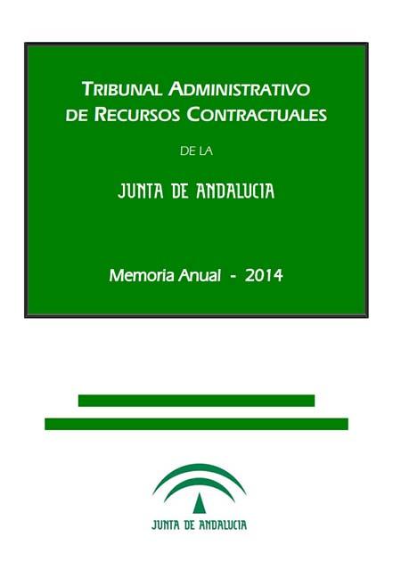 Cubierta de la Memoria Anual 2014 del TARCJA