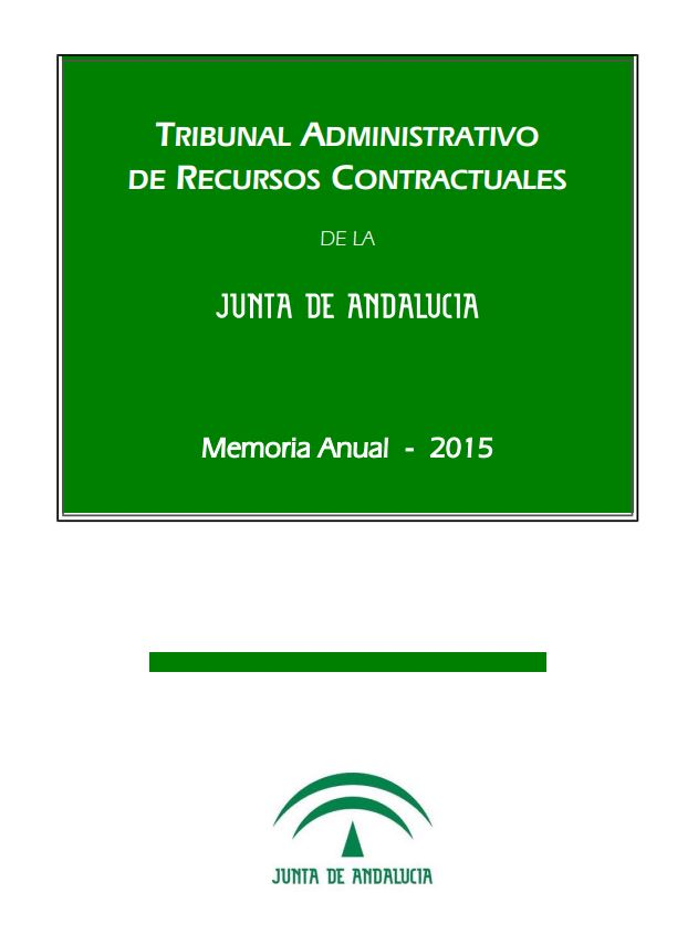 Cubierta de la Memoria Anual 2015 del TARCJA