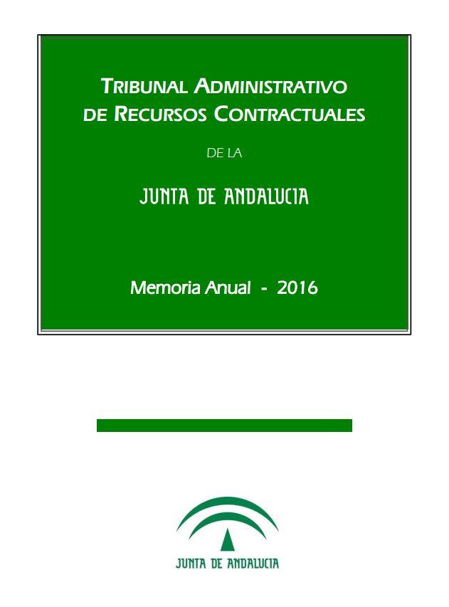 Cubierta de la Memoria Anual 2016 del TARCJA