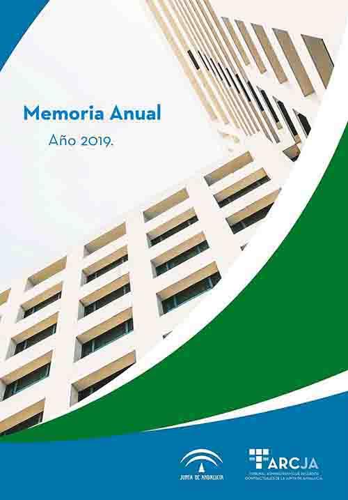 Cubierta de la Memoria Anual 2019 del TARCJA