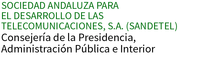 Web oficial - Sociedad Andaluza para el Desarrollo de las Telecomunicaciones, S.A. (SANDETEL)